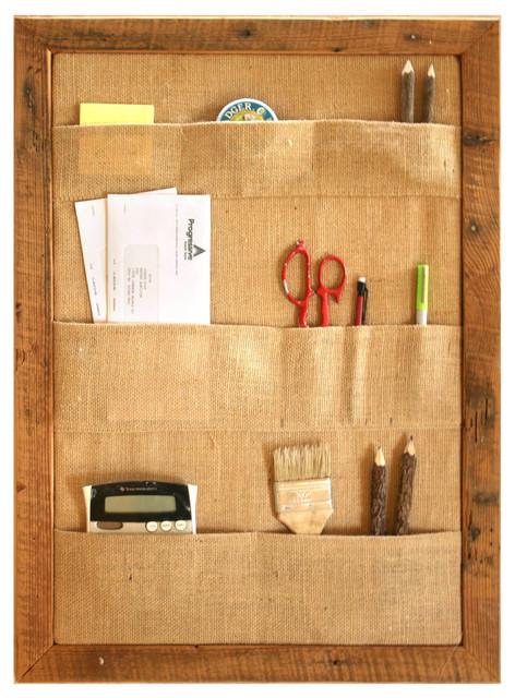 Pocket bulletin board wall organizer large rustic for Bulletin board organizer