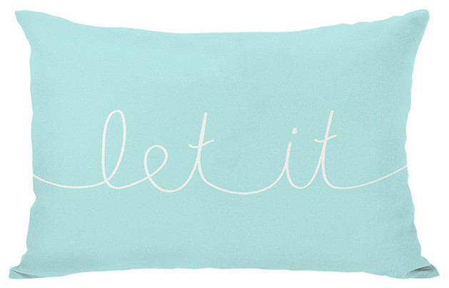 Let It Mix & Match Holiday - Ivory/Ice Blue Throw Pillow - Contemporary - Scatter Cushions - by ...