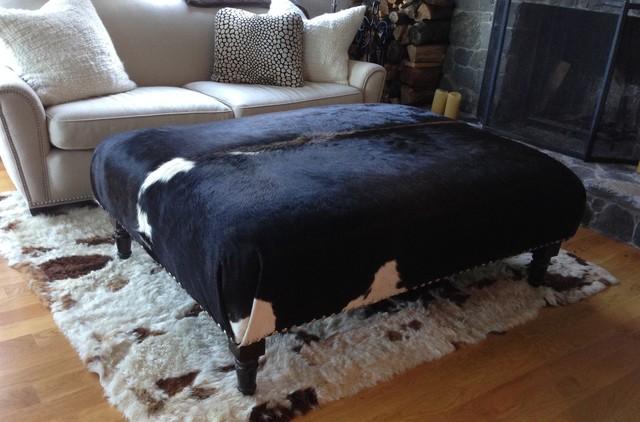 cowhide ottoman custom moderne klassik m bel other. Black Bedroom Furniture Sets. Home Design Ideas