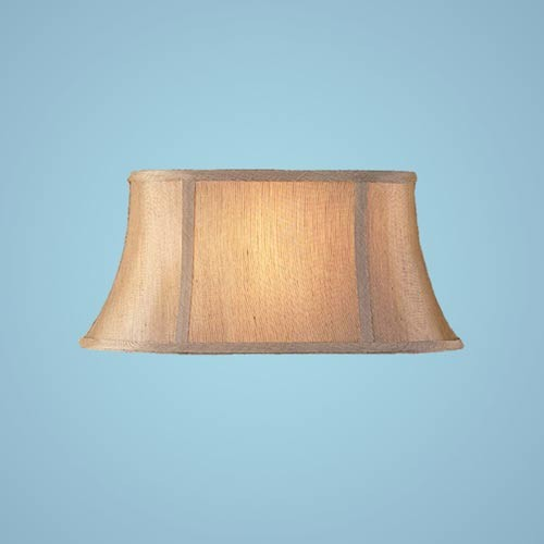 Two-Light Sconce with Gold Silk Shades - Modern - Wall Sconces