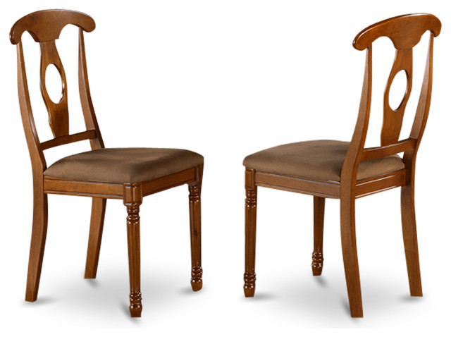 set of 2 napoleon styled kitchen chair with upholstered seat