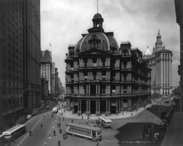 """""""United States Post fice Building Broadway And Prk"""