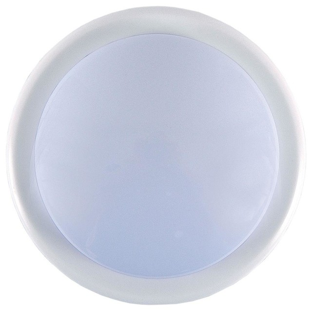 GE Bathroom Lighting 1-Light White Battery Operated Round Mini Tap Light 55219 - Contemporary ...