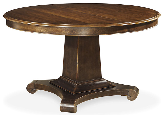 Universal Cordevalle Round Pedestal Table Dark Vintage  : traditional dining tables from www.houzz.com size 640 x 460 jpeg 52kB