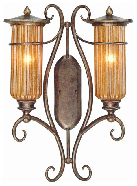 Exterior Wall Sconces Traditional : Troy-2-Light Bronze Leaf Outdoor Wall Light-B9794BLF - Traditional - Outdoor Wall Lights And ...