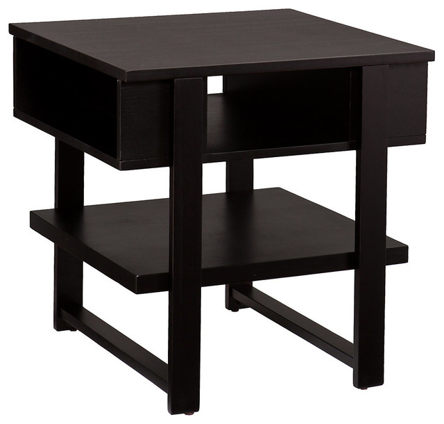 Contemporary Side Table : Cloke End Table Black - Contemporary - Side Tables & End Tables - by ...