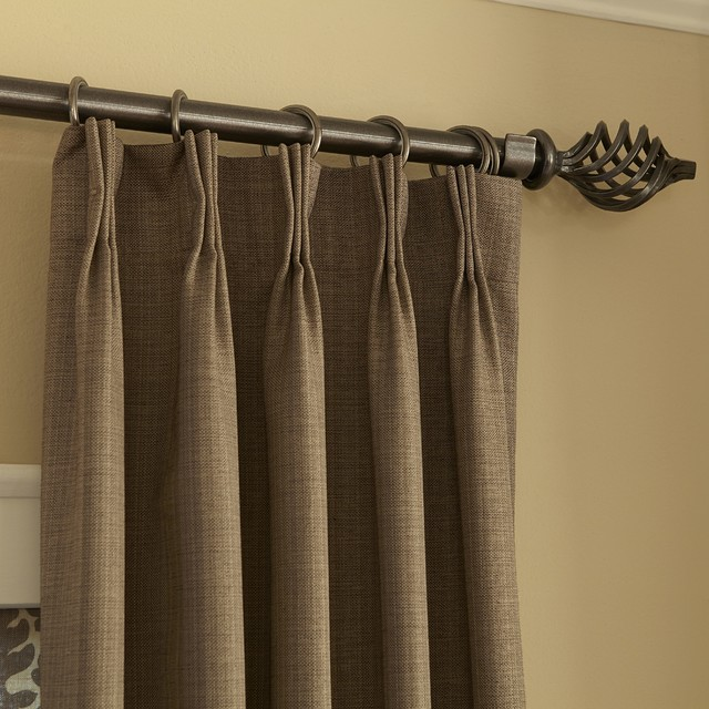Blinds.com Easy Drapery Panels - Pinch Pleat in Rio Tobacco - Curtains ...