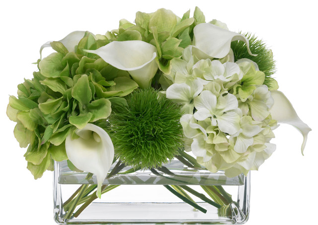 BLOOMS Hydrangea And Calla Lily Bouquet Transitional