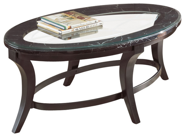 steve silver cayman 3 piece coffee table set with faux marble and glass top traditional. Black Bedroom Furniture Sets. Home Design Ideas