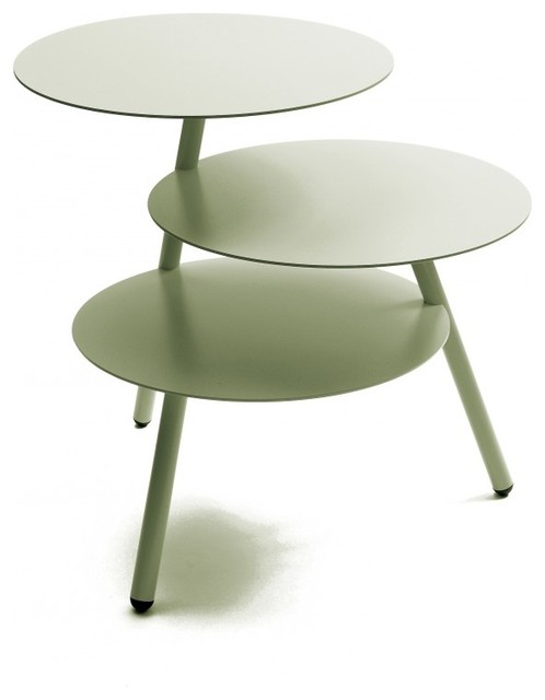 Table basse design trio by pulpo couleur gris modern for Table basse ceruse gris
