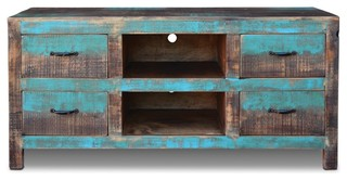 La Boca Tv Stand With  Drawers Beach Style Entertainment Centers