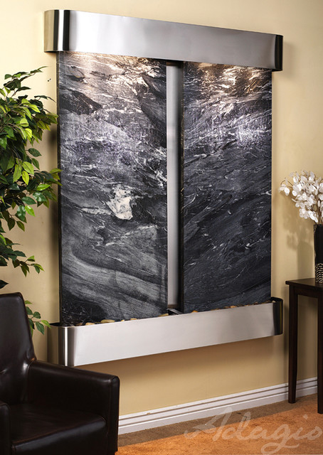 the cottonwood falls wall mounted water features indoor fountains san diego by water. Black Bedroom Furniture Sets. Home Design Ideas