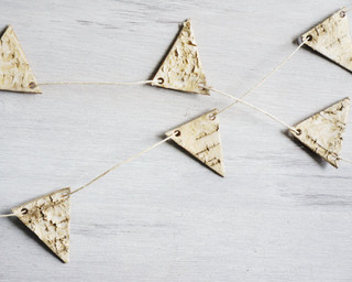 Birch Bark Pennant Bunting by Sesame and Sparrow - Contemporary - Holiday Decorations - by Etsy