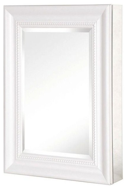 Recessed or Surface Mount Mirrored Medicine Cabinet With Deco Framed ...