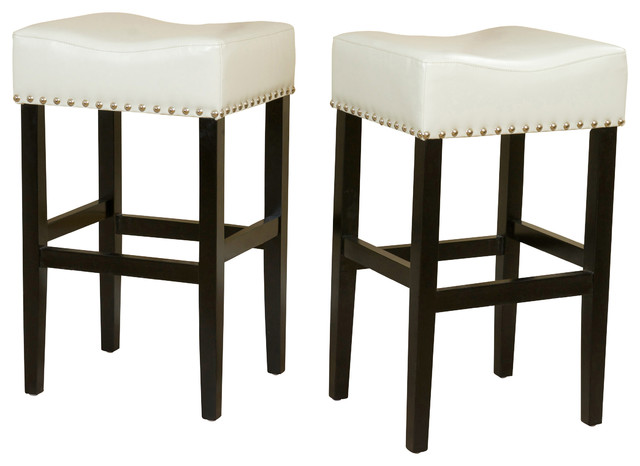 Chantal Leather Stools Set of 2 Ivory Bar Height  : contemporary bar stools and counter stools from www.houzz.com size 640 x 466 jpeg 46kB