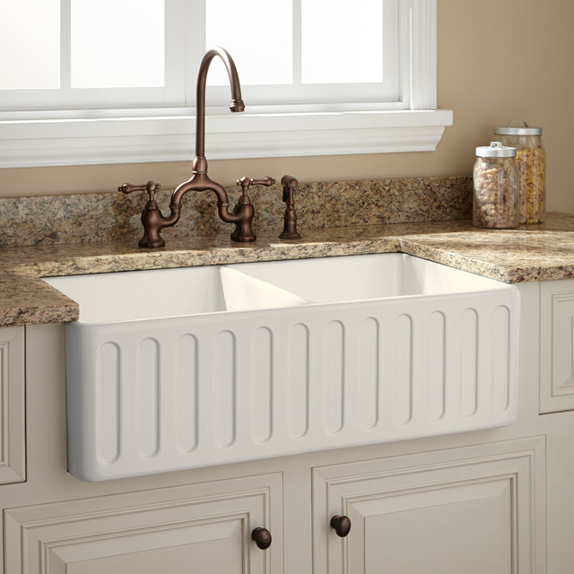 ... Sink - Biscuit - Traditional - Kitchen Sinks - by Signature Hardware