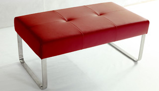 Genoa Raspberry Red Dining Bench Contemporary Dining Benches South East