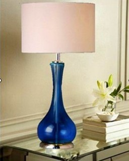 table lamp with linen shade modern table lamps raleigh by. Black Bedroom Furniture Sets. Home Design Ideas