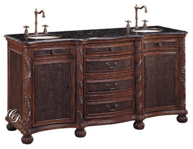 71 Inch Double Sink Bathroom Vanity Traditional