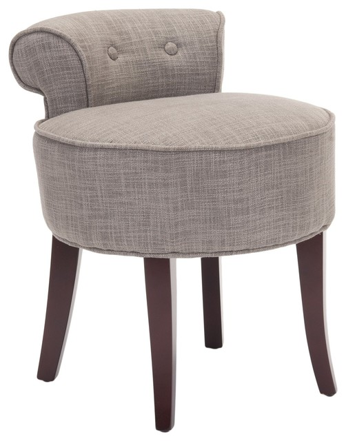 Safavieh georgia vanity stool contemporary dressing table stools - Bedroom vanity chair with back ...