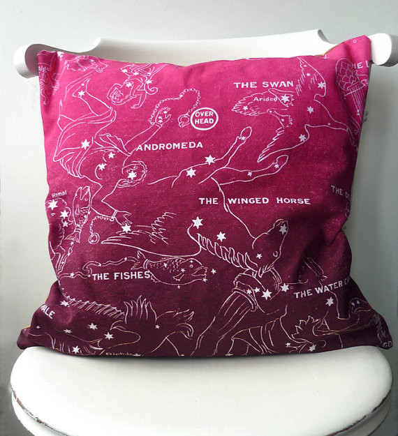 Eclectic Decorative Pillows : The Night Sky Fall Cushion by Sally Boyle - Eclectic - Decorative Pillows - by Etsy