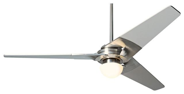 52 modern fan torsion bright nickel lighted ceiling fan contemporary ceiling fans by euro - Modern ceiling fan with bright light ...