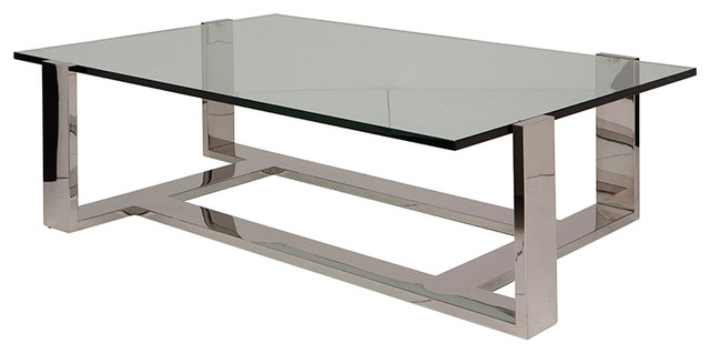 Coffee Table Clear By Nuevo Living Small Contemporary Coffee Tables