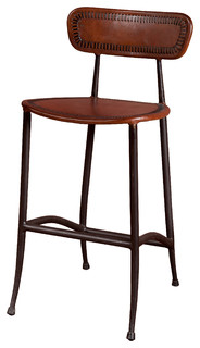 Rocket Counter Stool Sienna Brown And Burnished Iron