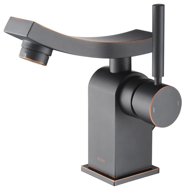 Kraus Plumbing Fixtures : ... Lever Basin Faucet Oil Rubbed Bronze modern-bathroom-sink-faucets