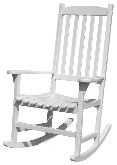 White Painted Traditional Rocking Chair traditional outdoor rocking chairs