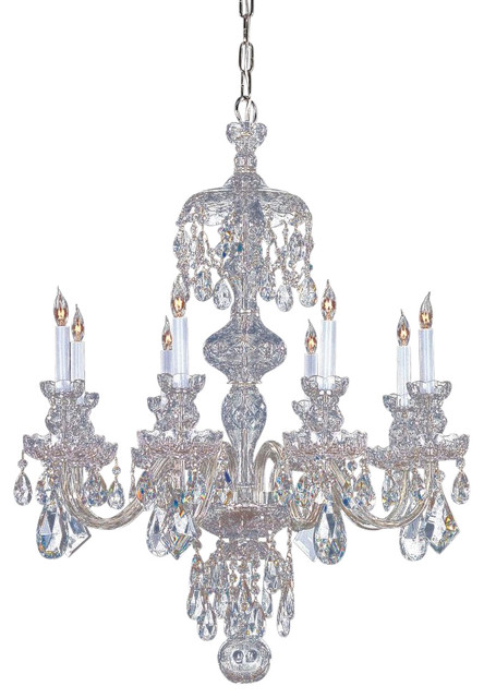 Crystorama traditional crystal 8 light crystal chrome chandelier iv traditional chandeliers - Traditional crystal chandeliers ...
