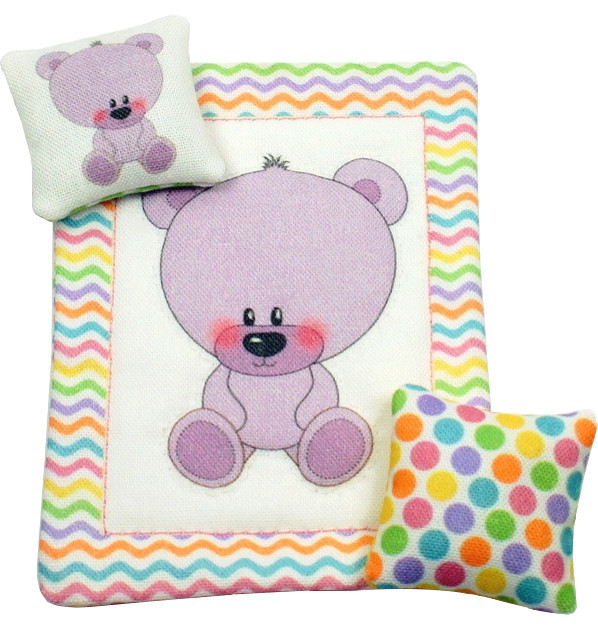 Teddy Bear Colleciton 1/12th Scale Dollhouse Nursery Set - Traditional - Decorative Objects And ...