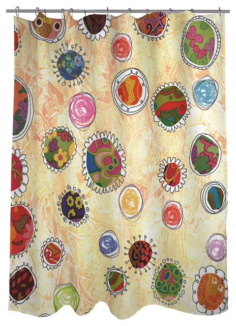 Thumbprintz funky flowers shower curtain contemporary - Funky bathroom accessories uk ...