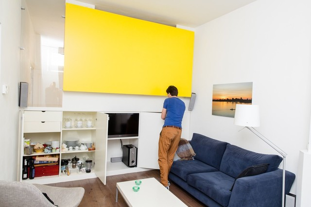 50m2 made extremely useful modern living room for Design apartment 50m2