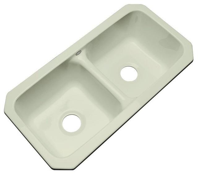 Thermocast Sinks : Thermocast Kitchen Brighton Undermount Acrylic 33x16.5x9 0-Hole Double ...