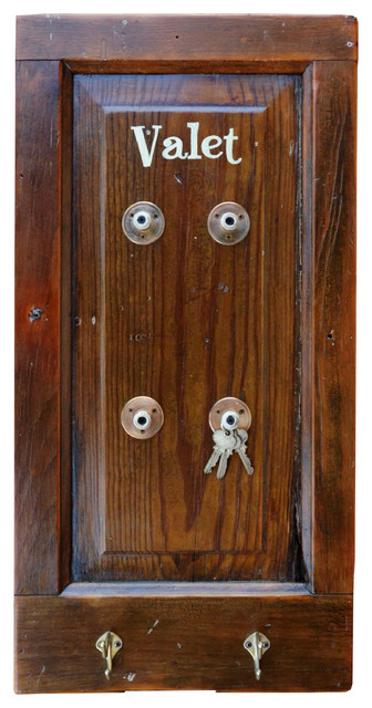 Natural Valet Wall Mounted Coat and Key Rack - Traditional - Storage And Organization - by ...