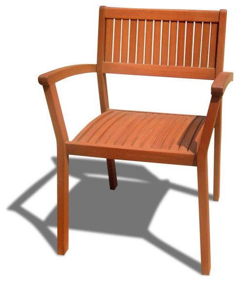 Outdoor Chairs Stacking Wood Dining Chairs Set Of 4