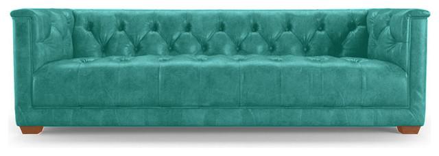 Elias Leather Sofa Brighton Polinesia Blue Midcentury  : midcentury sofas from www.houzz.com size 640 x 228 jpeg 33kB