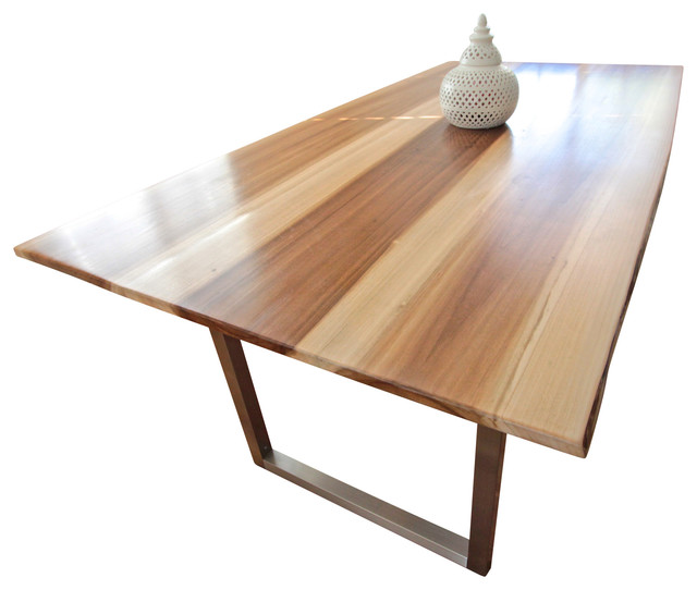 Minimalist poplar wood dining table contemporary for Is poplar good for furniture