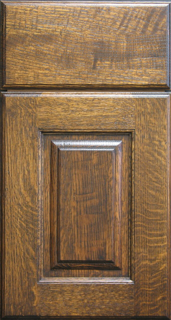 Quarter Sawn White Oak Raised Panel Cabinet Door - Rustic - Kitchen Cabinetry - Other - by Style ...