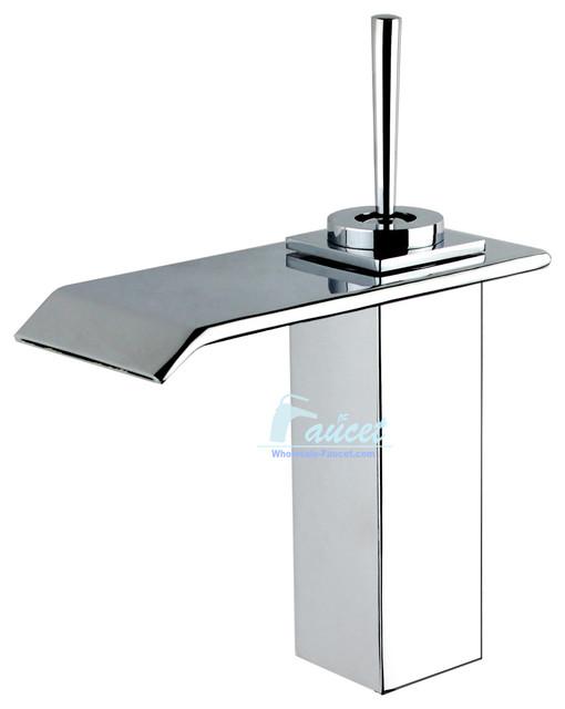 Single Handle Single Hole Waterfall Bathroom Faucet
