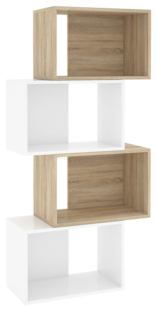 Shape biblioth que 4 cases contemporary bookcases by alin a mobilier a - Bibliotheque 4 cases ...