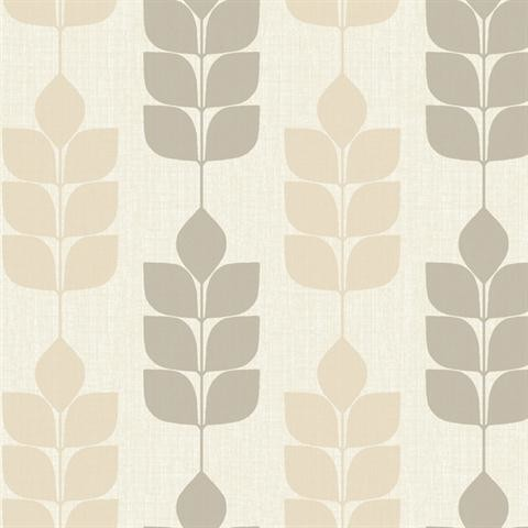 white brown modern petals wallpaper midcentury wallpaper by