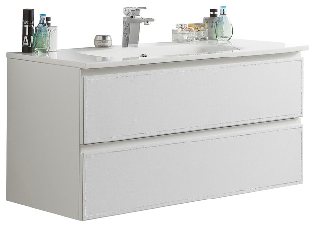 Cuero 40 Inch Bathroom Vanity Contemporary Bathroom