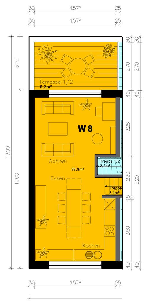 sch ner langer raum klug planen aber wie. Black Bedroom Furniture Sets. Home Design Ideas