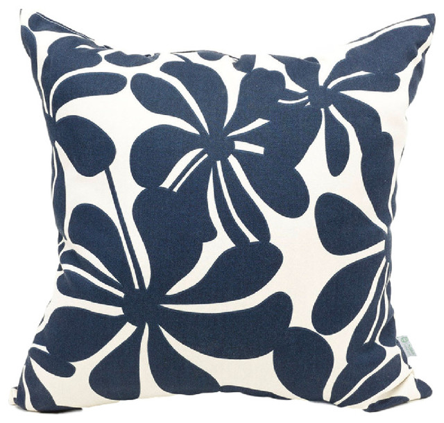 Modern Blue Outdoor Pillows : Outdoor Plantation Pillow, Navy Blue - Modern - Outdoor Cushions And Pillows - by Majestic Home ...