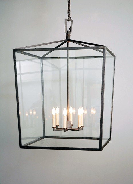 Square Box Cage Lantern Traditional Outdoor Hanging Lights Philadelphia By Copper