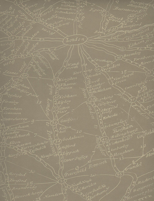 vintage masculine london map wallpaper clay industrial
