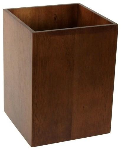 Decorative Bathroom Wastebasket Brown Transitional Wastebaskets By Thebathoutlet