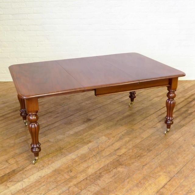 Victorian mahogany extending table traditional dining for Traditional dining table uk